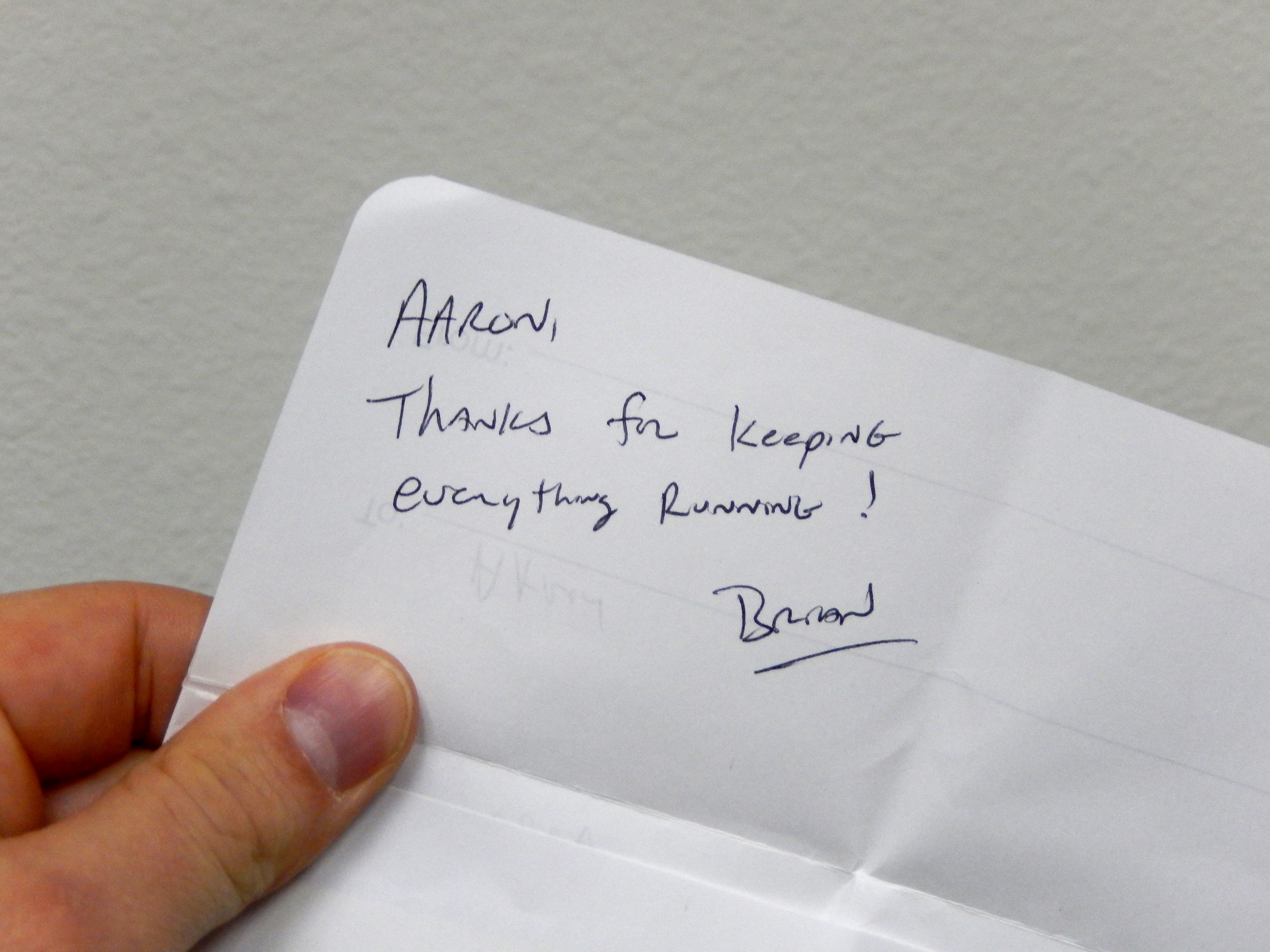 """simple yet powerful """"thank you note"""" from a client"""