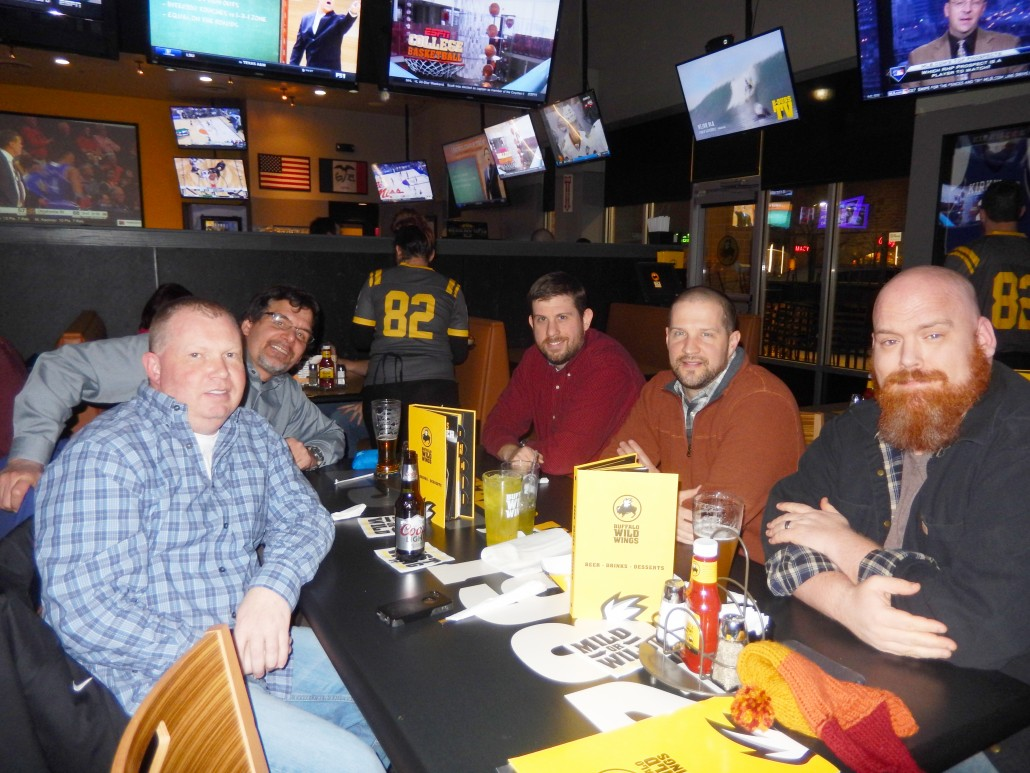 From left to right: Mike Irvine, Don White, Nate Houstman, Aaron Van Noy and Andrew Miller