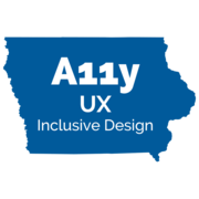 Iowa Web Accessibility UX and Inclusive Design LOGO (#A11y)