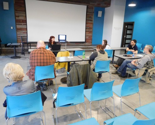 Group at A11y UX event in Cedar Rapids