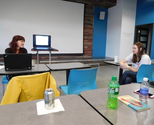 Questions and Answers with Rochelle Honey-Arcement at A11y UX event in Cedar Rapids