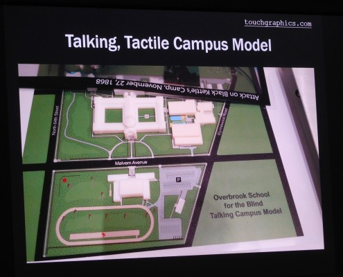 Talking and tactile campus maps