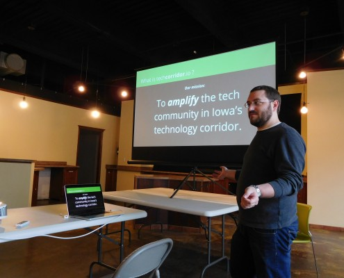Benjamin Oakes talks about amplifying the tech community in Iowa's technology corridor with techcorridor.io