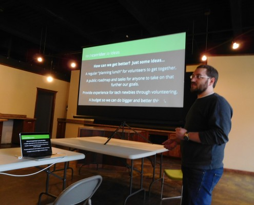 Benjamin Oakes talks about how to make techcorridor.io even better