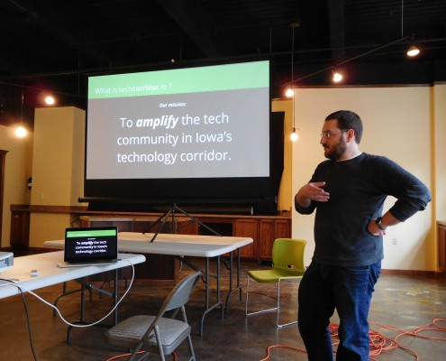 How do we amplify the tech community in Iowa