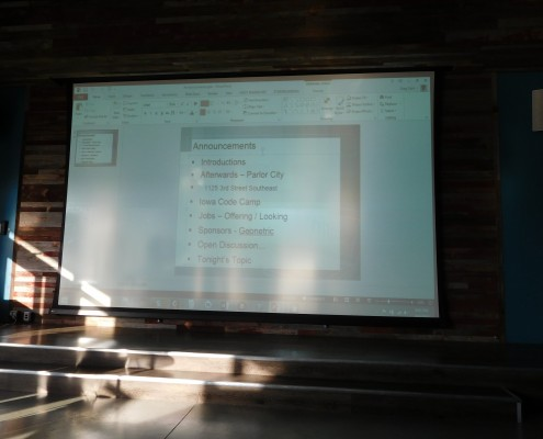 Itinerary and Announcements for .Net event tonight