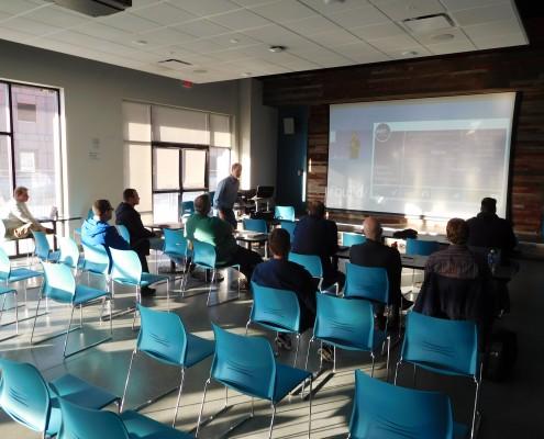 Meeting participants at the CRIneta Cedar Rapids .NET User Group