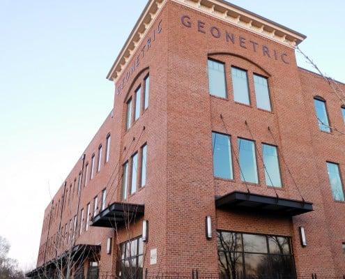Outside of the Geonetric Building in Cedar Rapids, Iowa