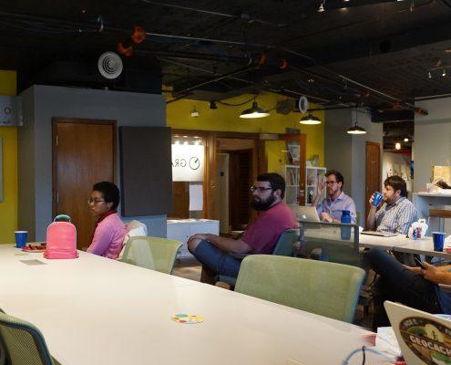 People at WordPress meeting at Gravitate in Des Moines, Iowa