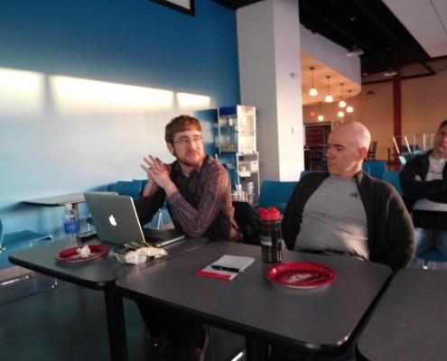 Seth Adam and Bill Sorensen at CRIneta Cedar Rapids .NET User Group