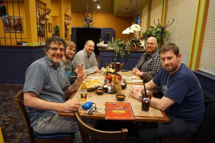 Don White, Seth Adam, Aaron Van Noy, Andrew Miller and Nate Houstman