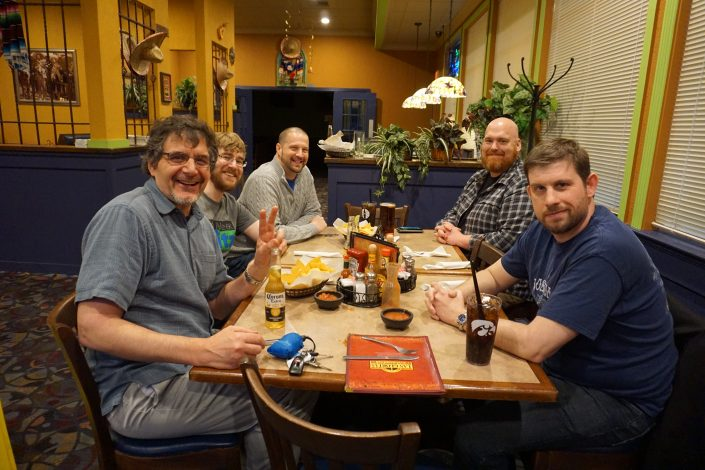 Don White, Seth Adam, Aaron Van Noy, Andrew Miller and Nate Houstman at Cedar Rapids, Iowa