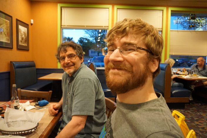 Don White and Seth Adam at Casa Las Glorias on Blairs Ferry in Cedar Rapids, Iowa