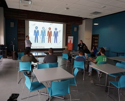 Group at Corridor Digital Marketing meetup: Increase Revenue with Social Media/Selling