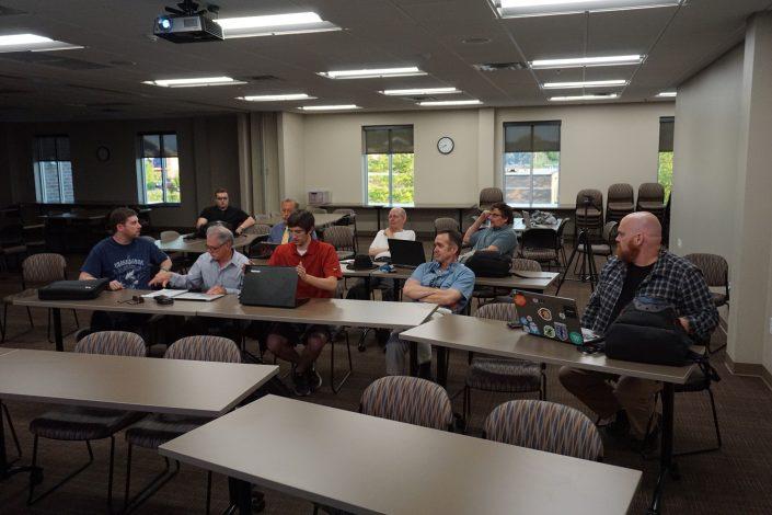 Members at the WordPress meetup Group in Iowa