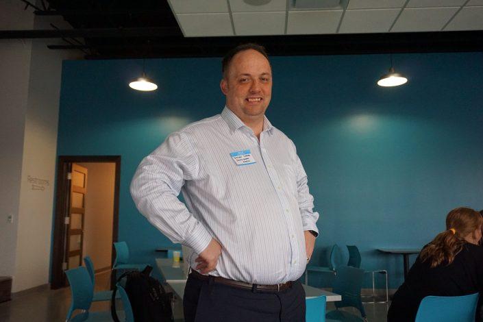 Our marketing presenter tonight was Jeroen Corver of Cedar Rapids, IA