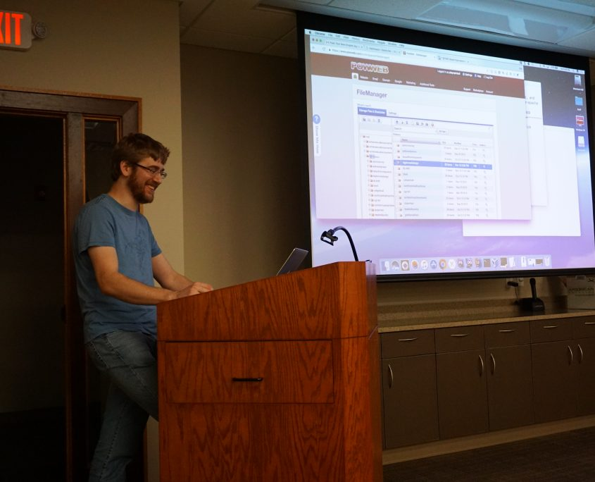Seth Adam of Dakota Softworks showing the WordPress group how to migrate a website from PowWeb to DigitalOcean