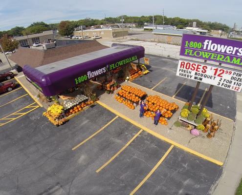 Aerial Photography for Flowerama in Iowa City, IA