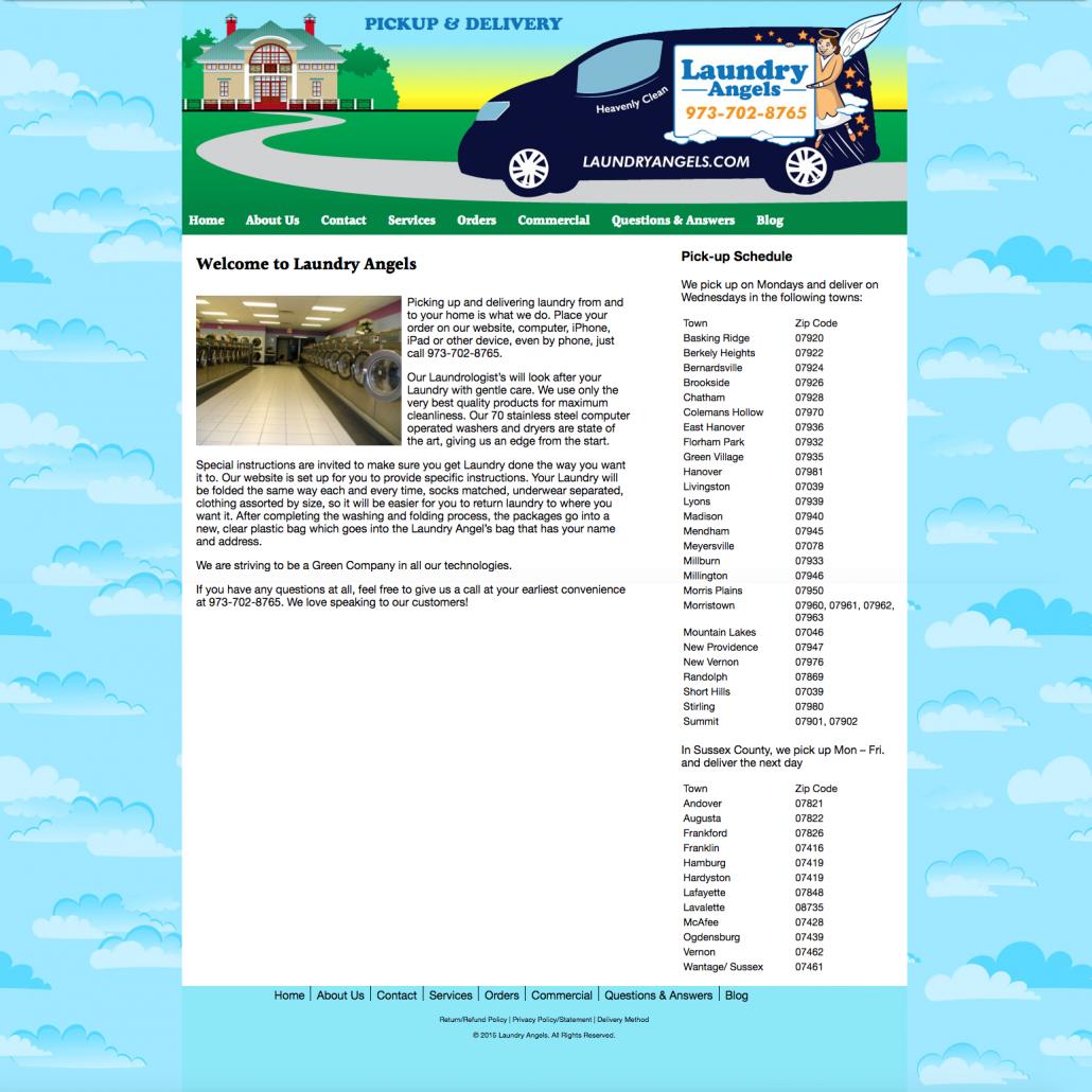 Original LaundryAngels website
