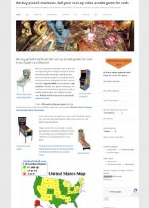 WeBuyPInball website screen shot