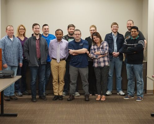 Members of the WordPress meetup in Cedar Rapids Iowa March 2017