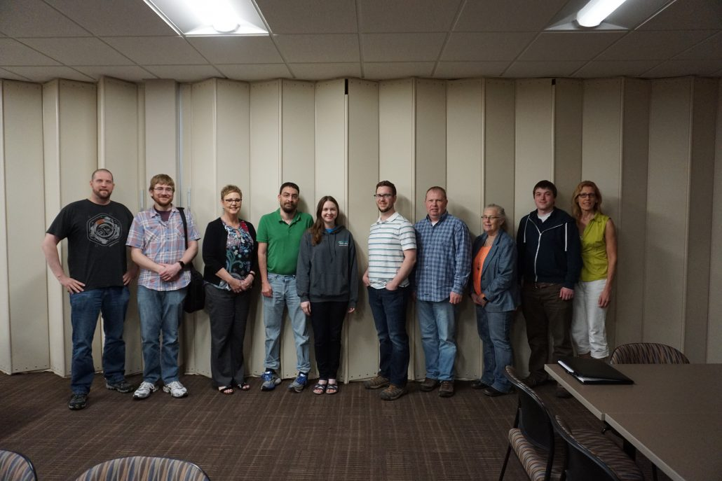 Group photo at the end of WordPress meetup group going over Web Accessibility