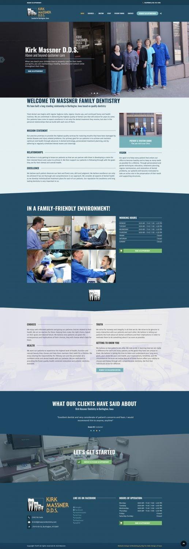 New Website Design for Massner Dentistry Website