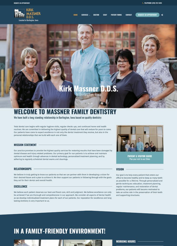 Dental Office Website Design SEO Massner Dentistry Website Simple Dental Office Website Design