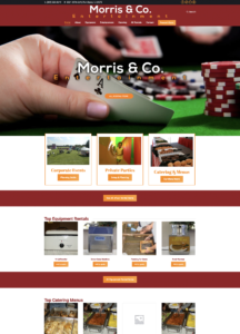 Party Rental Store website design for Morris and Company Entertainment