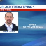 Aaron of Big Ten Web Design in the news on KGAN CBS 2