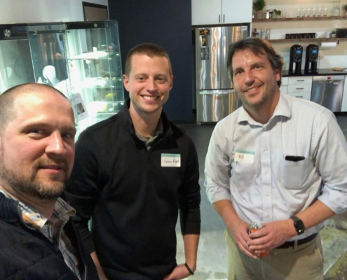 Aaron Van Noy of Big Ten Data (formerly Big Ten Web Design), Adam Engle of The Running Robots and William Easton of William Easton Design (from left to right)