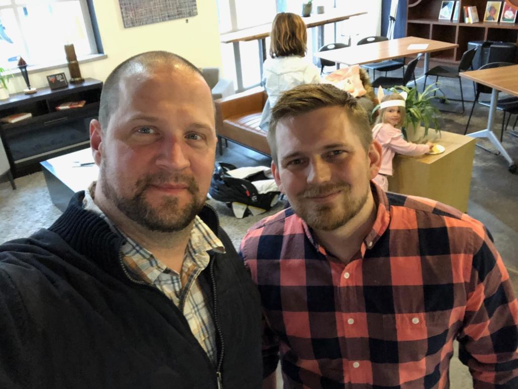 Aaron Van Noy of Big Ten Data (formerly Big Ten Web Design) and Tim Lane (Senior Digital Strategist at Geonetric in Cedar Rapids, IA)